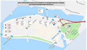 OBAVIJEST - Privremena regulacija prometa za vrijeme finalne utakmice Svjetskog nogomentnog prvenstva